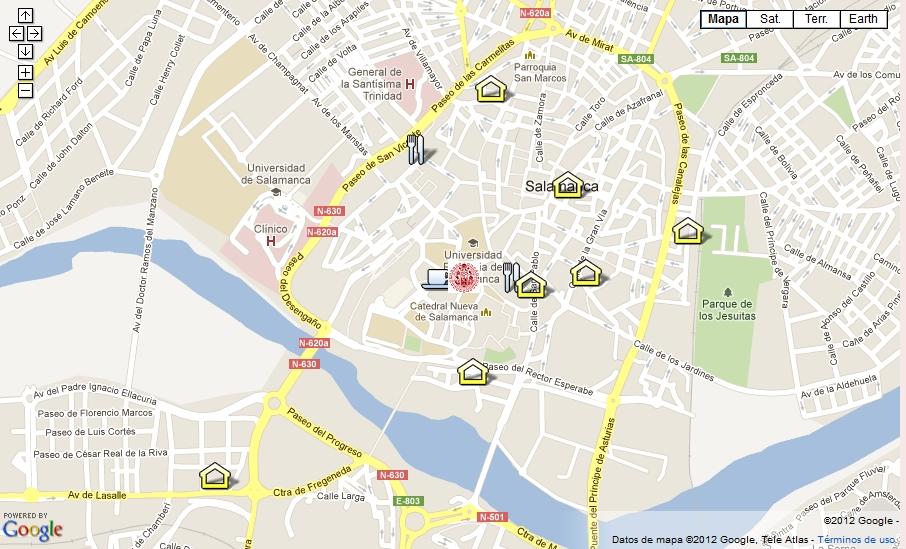 Mapa del Plenario de CICUE 2012